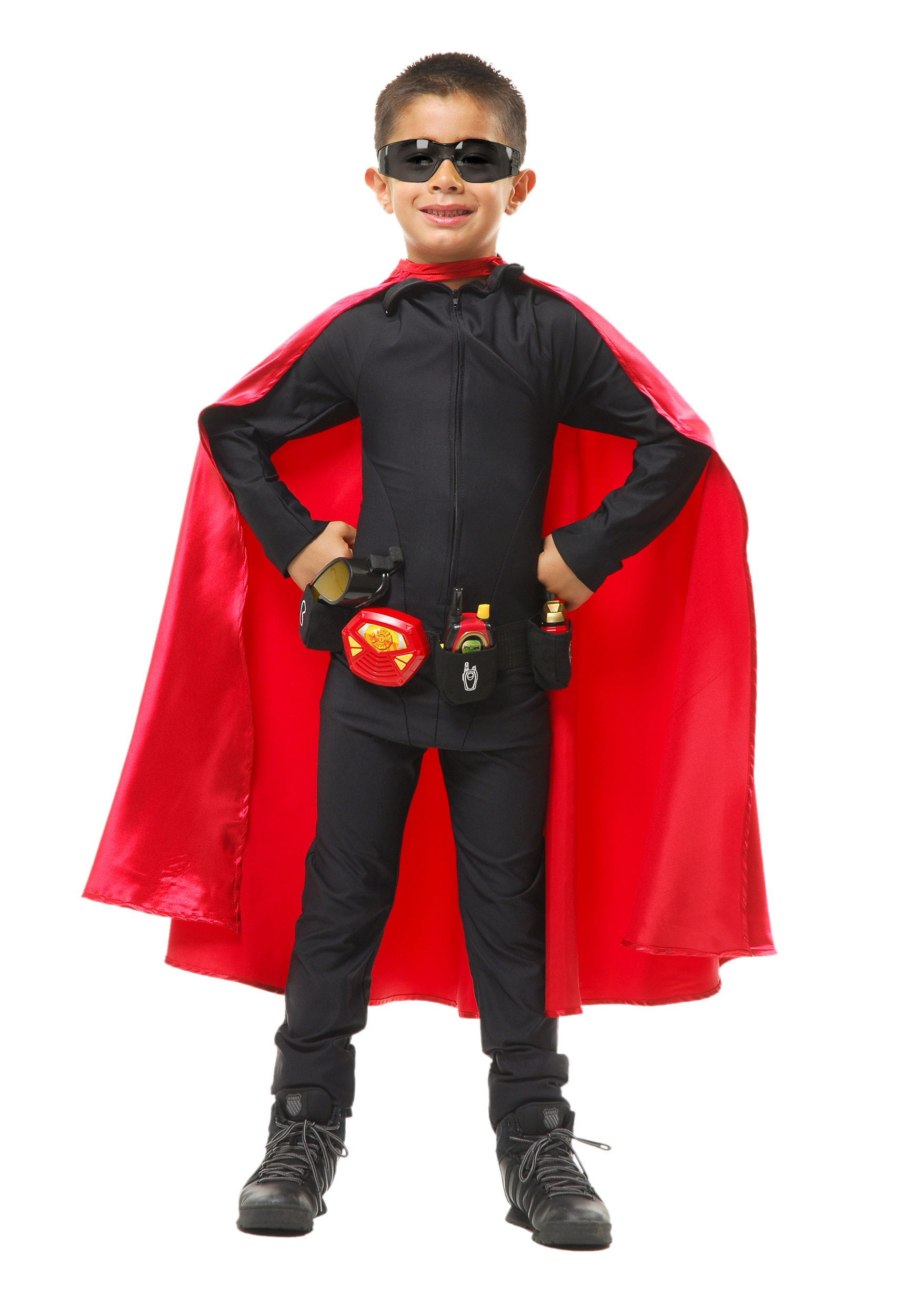 sc 1 st  Halloween Costumes & Deluxe Child Red Superhero Cape