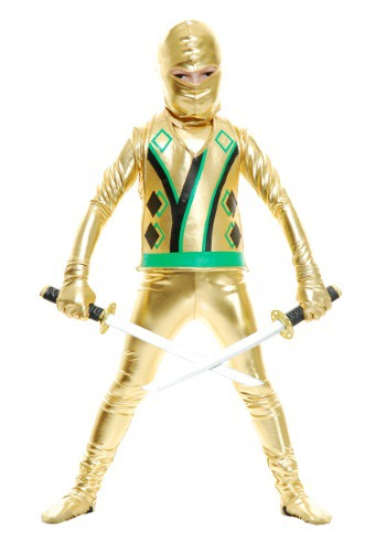 Click Here to buy Kids Gold Ninja Avengers Series III from HalloweenCostumes, USA Funds & Shipping