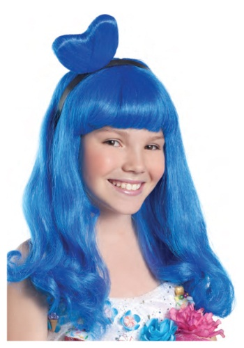Click Here to buy California Blue Candy Girl Kids Wig from HalloweenCostumes, USA Funds & Shipping