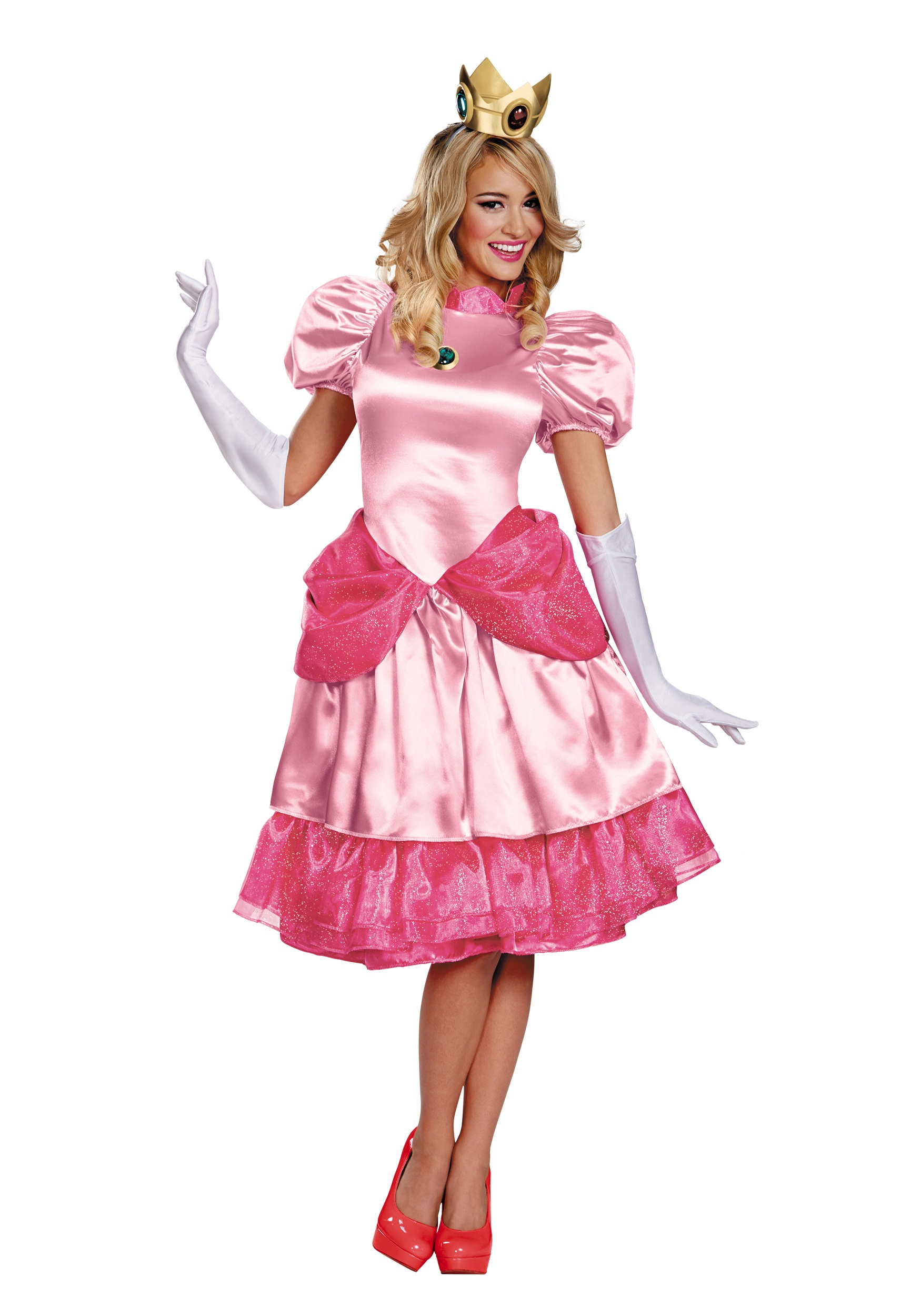 princess peach deluxe adult costume. Black Bedroom Furniture Sets. Home Design Ideas