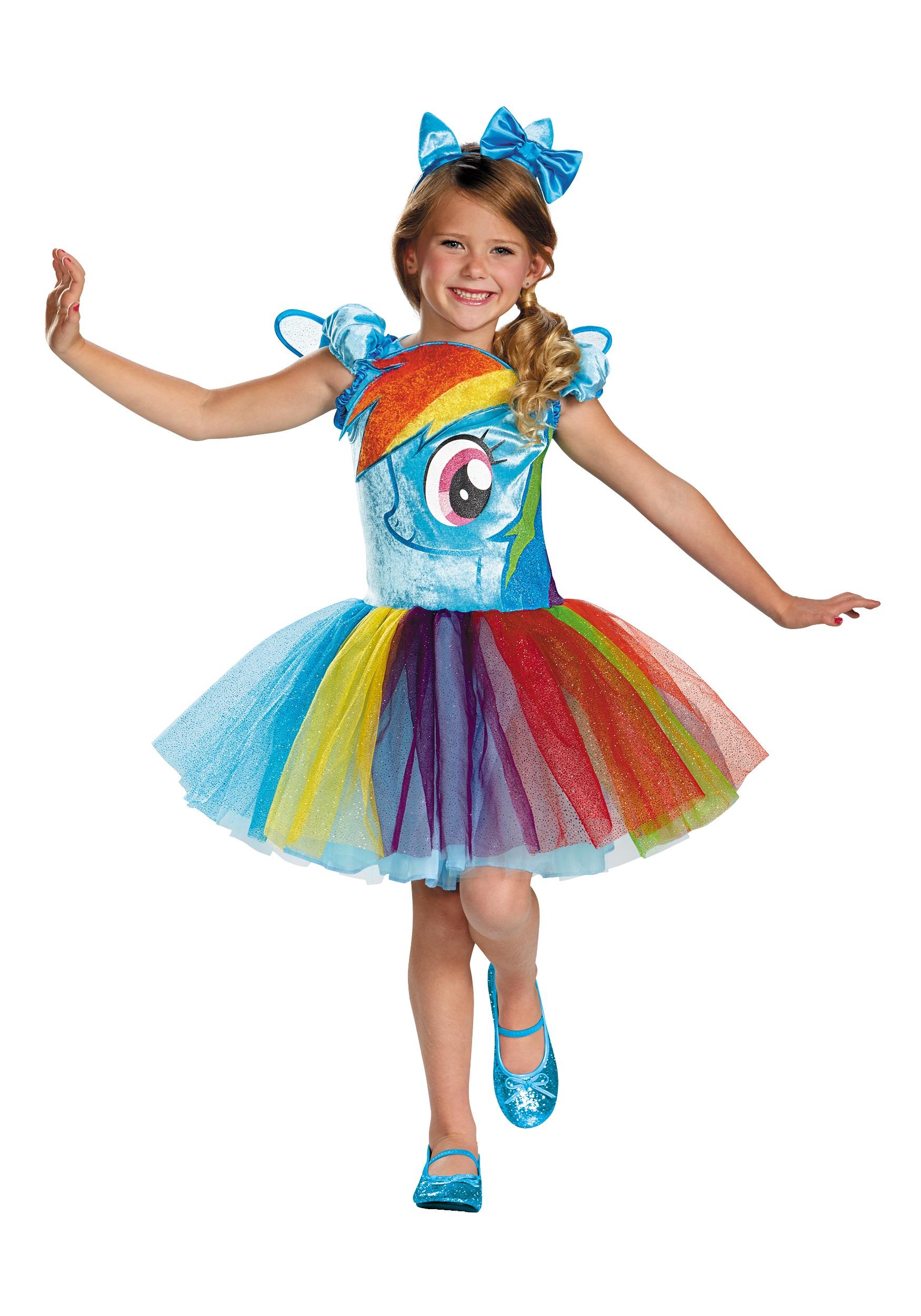 RAINBOW DASH TUTU PRESTIGE COSTUME for girls kids