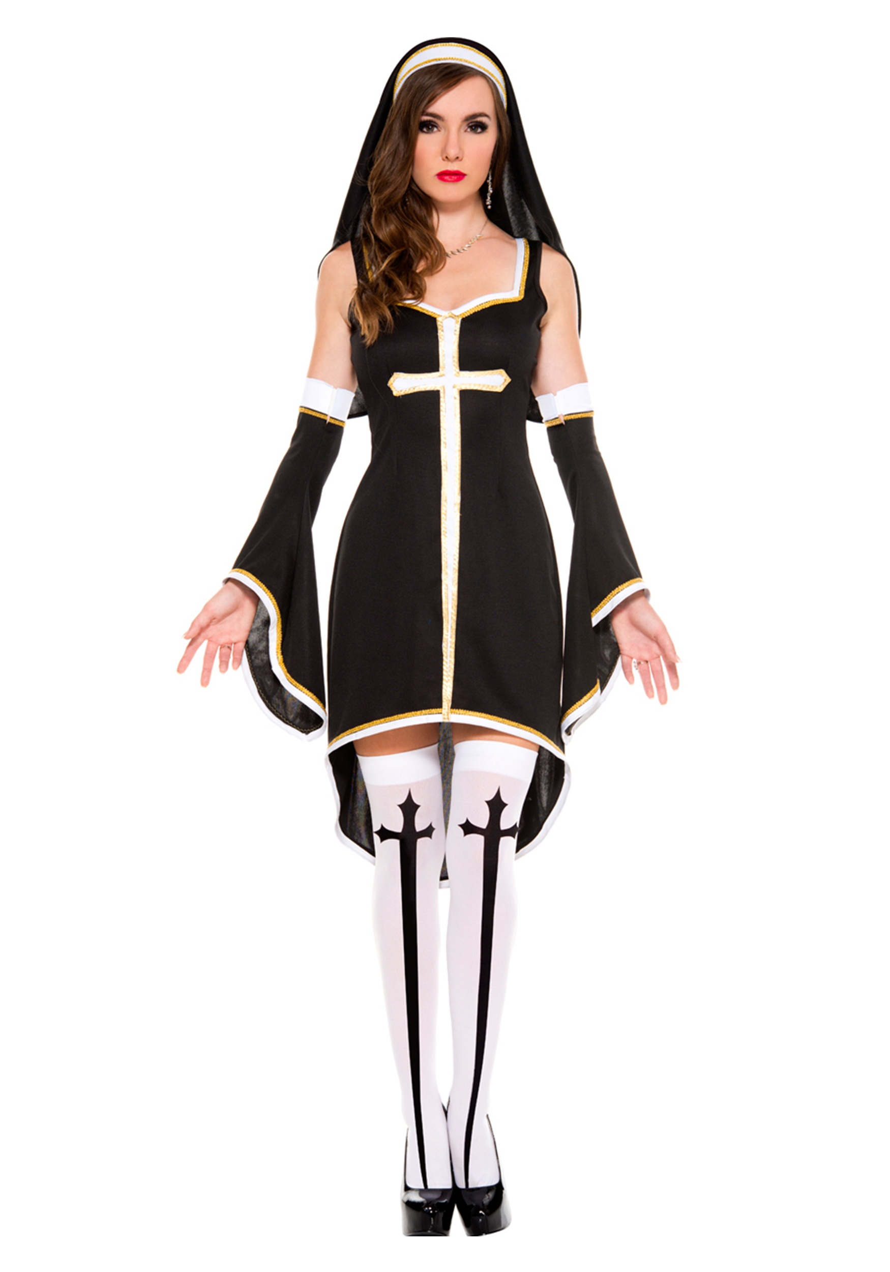 Womens Sinfully Hot Nun Costume-5852