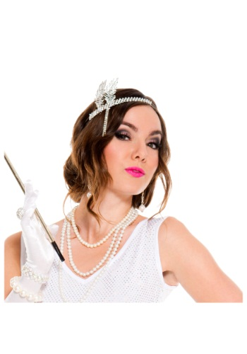 Image of Silver Flapper Headpiece