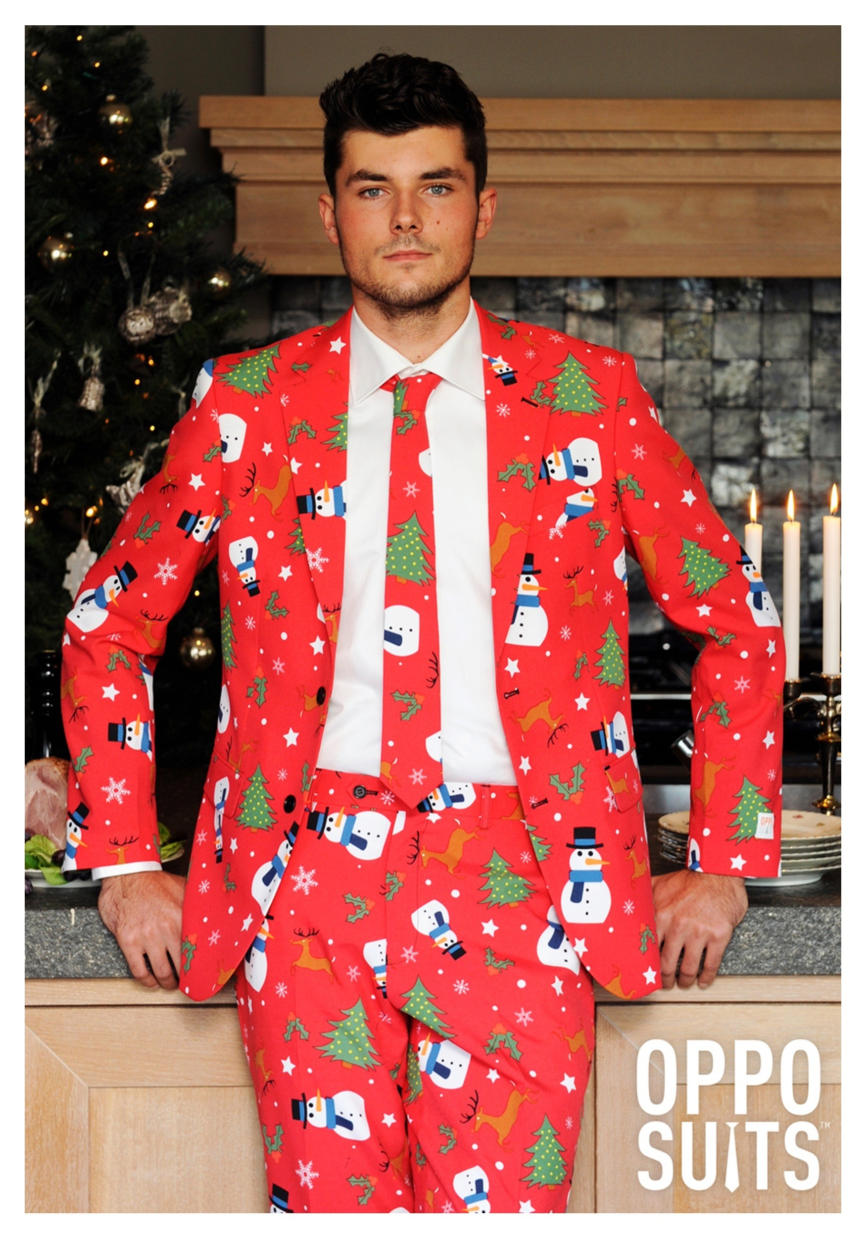 Men 39 S Opposuits Red Christmas Suit