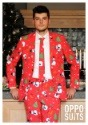 Mens Red Christmas Suit