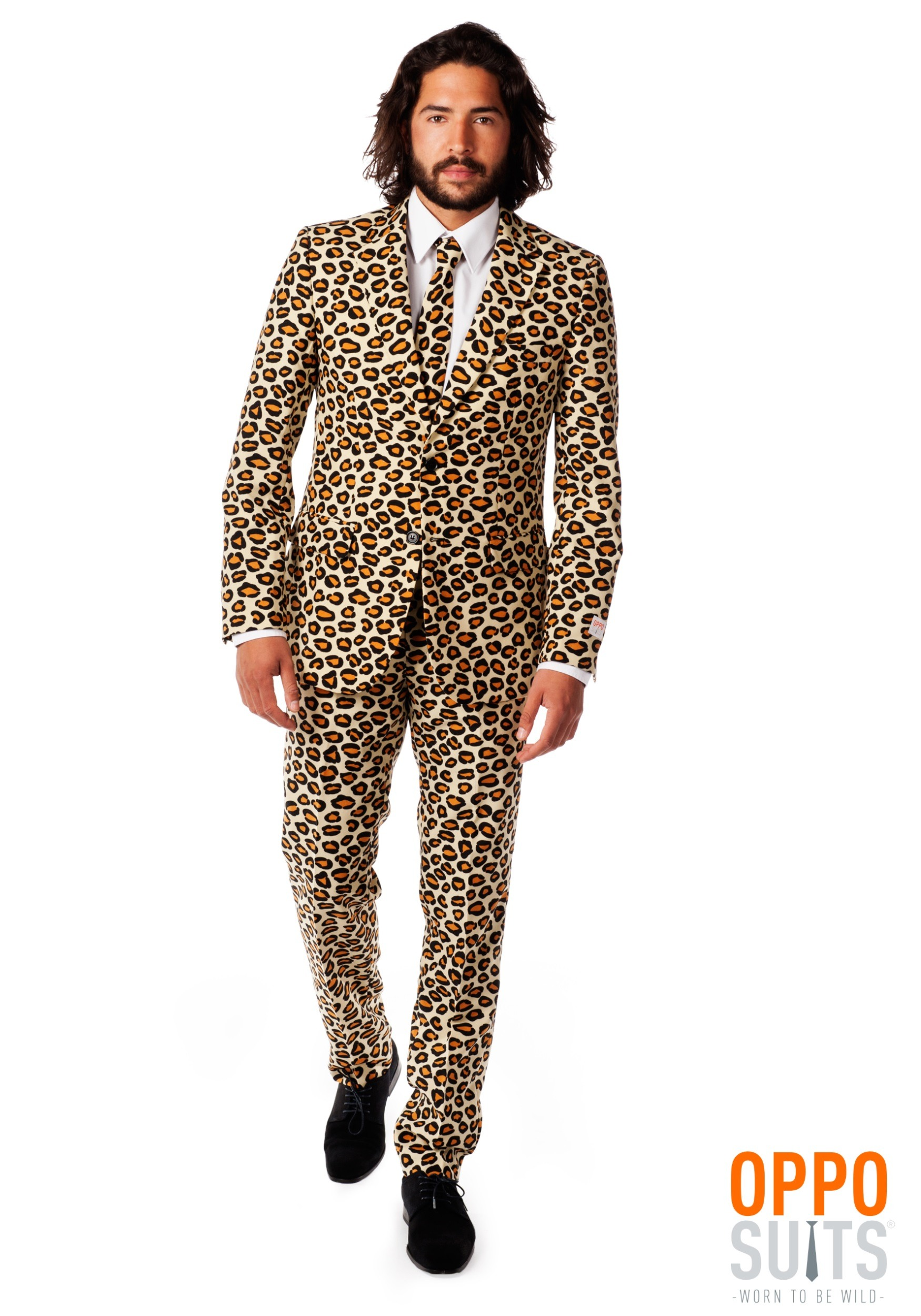 mens jaguar animal printed suit