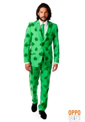 Mens OppoSuits Green St. Patrick's Day Suit