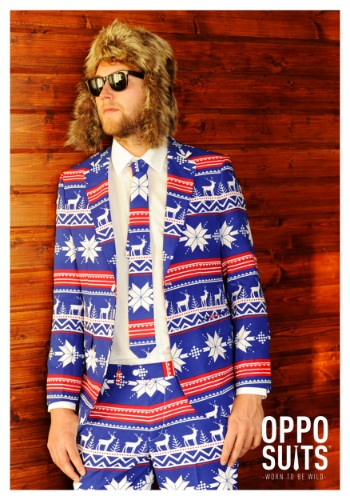 Mens OppoSuits Christmas Sweater Suit