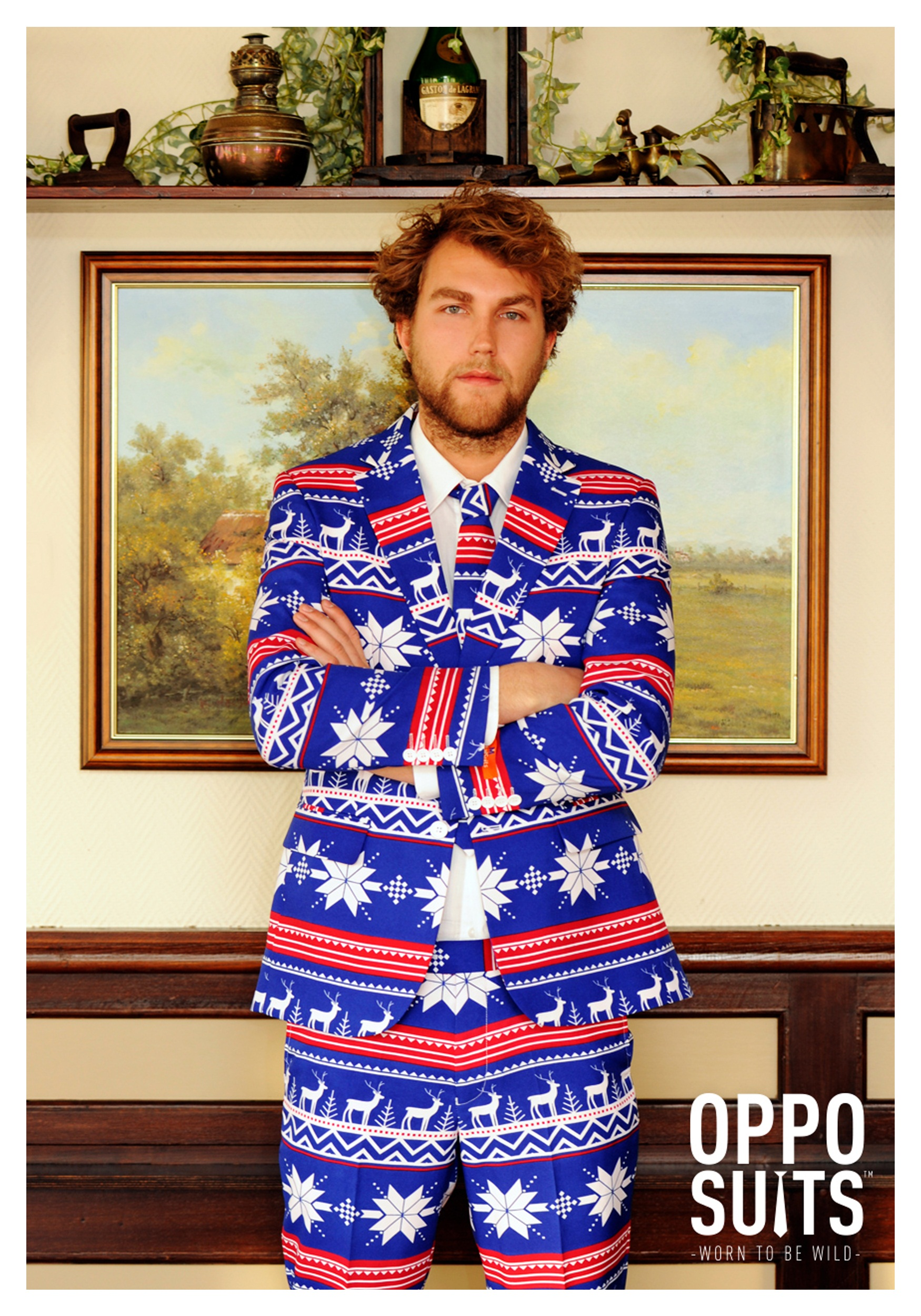 Christmas Suit.Men S Opposuits Ugly Christmas Sweater Costume Suit
