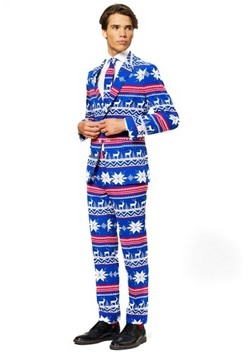 Mens OppoSuits Ugly Christmas Sweater Costume Suit