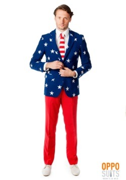 Mens Stars and Stripes Suit