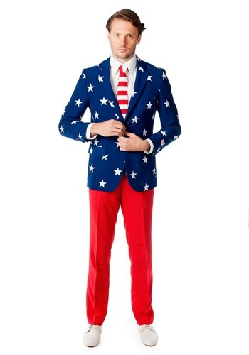 OppoSuits Stars and Stripes Costume Suit for Men