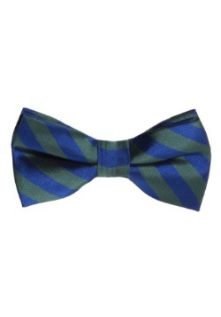 Green/Blue Striped Bow Tie