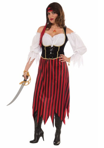 Click Here to buy Plus Size Pirate Maiden Costume from HalloweenCostumes, USA Funds & Shipping