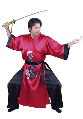 Red Samurai Adult Costume ()
