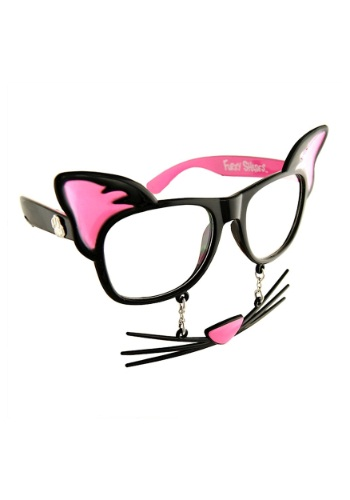 Click Here to buy Cat Stache Glasses from HalloweenCostumes, USA Funds & Shipping
