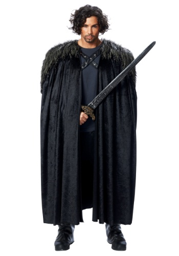 Click Here to buy Medieval Fur Trimmed Black Cape from HalloweenCostumes, CDN Funds