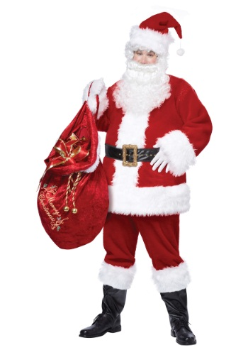 Click Here to buy Adult Deluxe Classic Santa Suit from HalloweenCostumes, USA Funds & Shipping