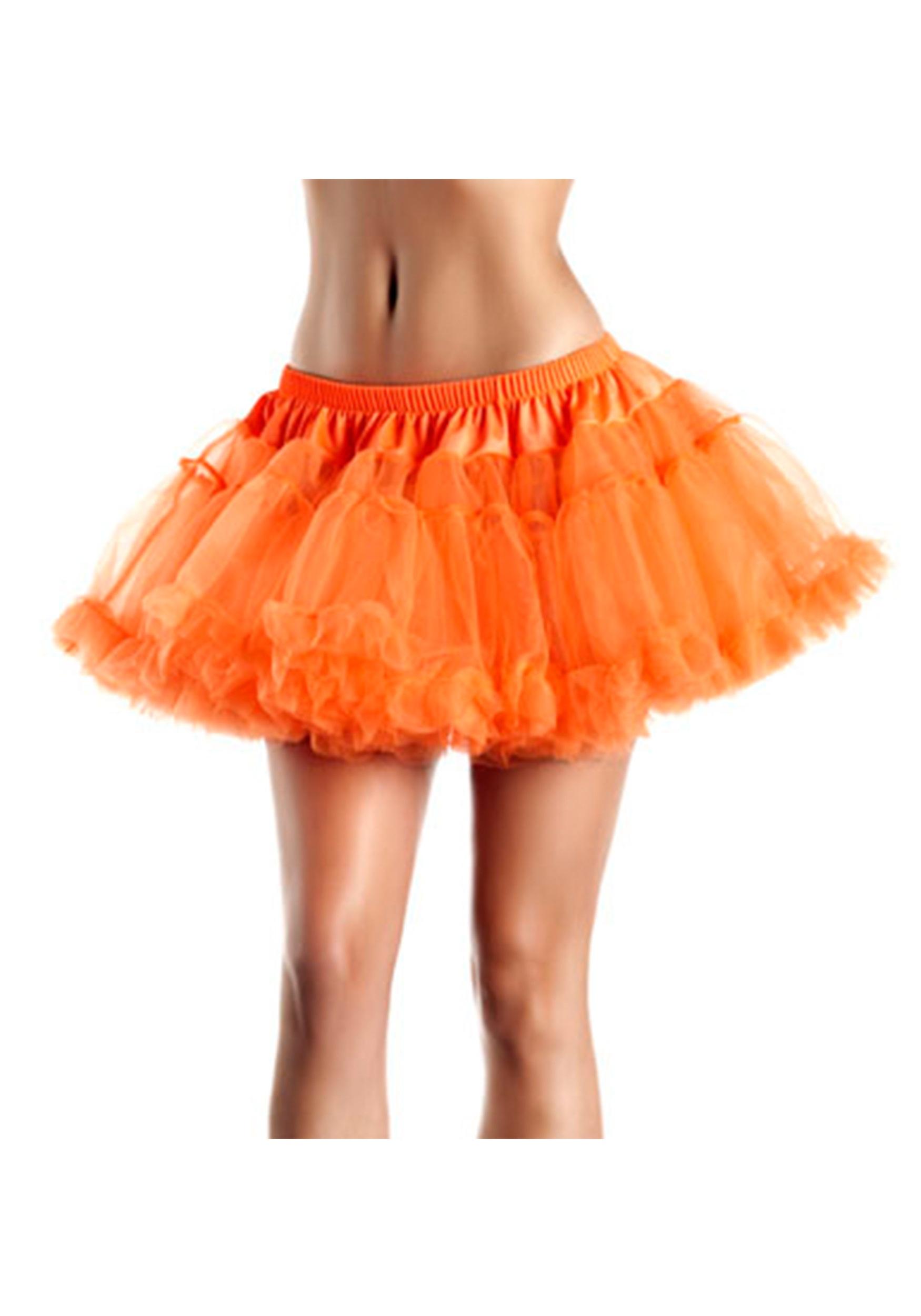"""12""""_Orange_2-Layer_Petticoat"""