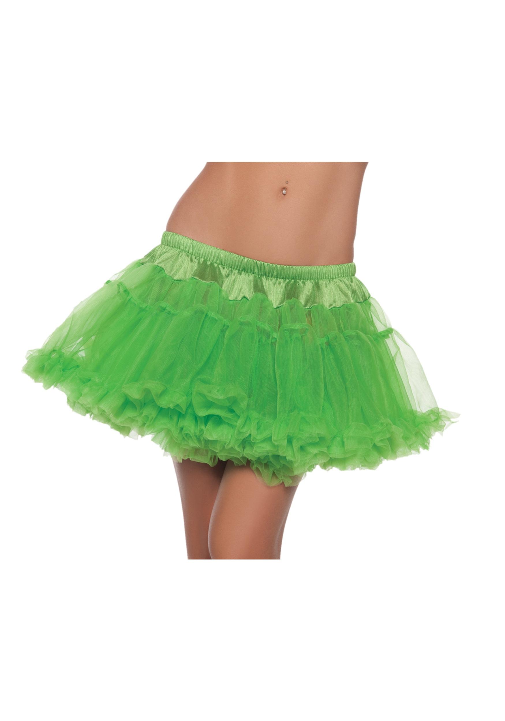 "12""_Green_2-Layer_Petticoat"