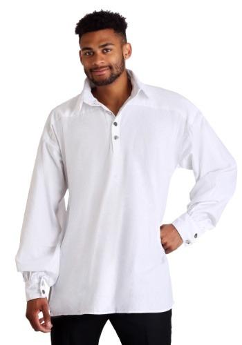 Plus Size White Highlander Shirt for Men