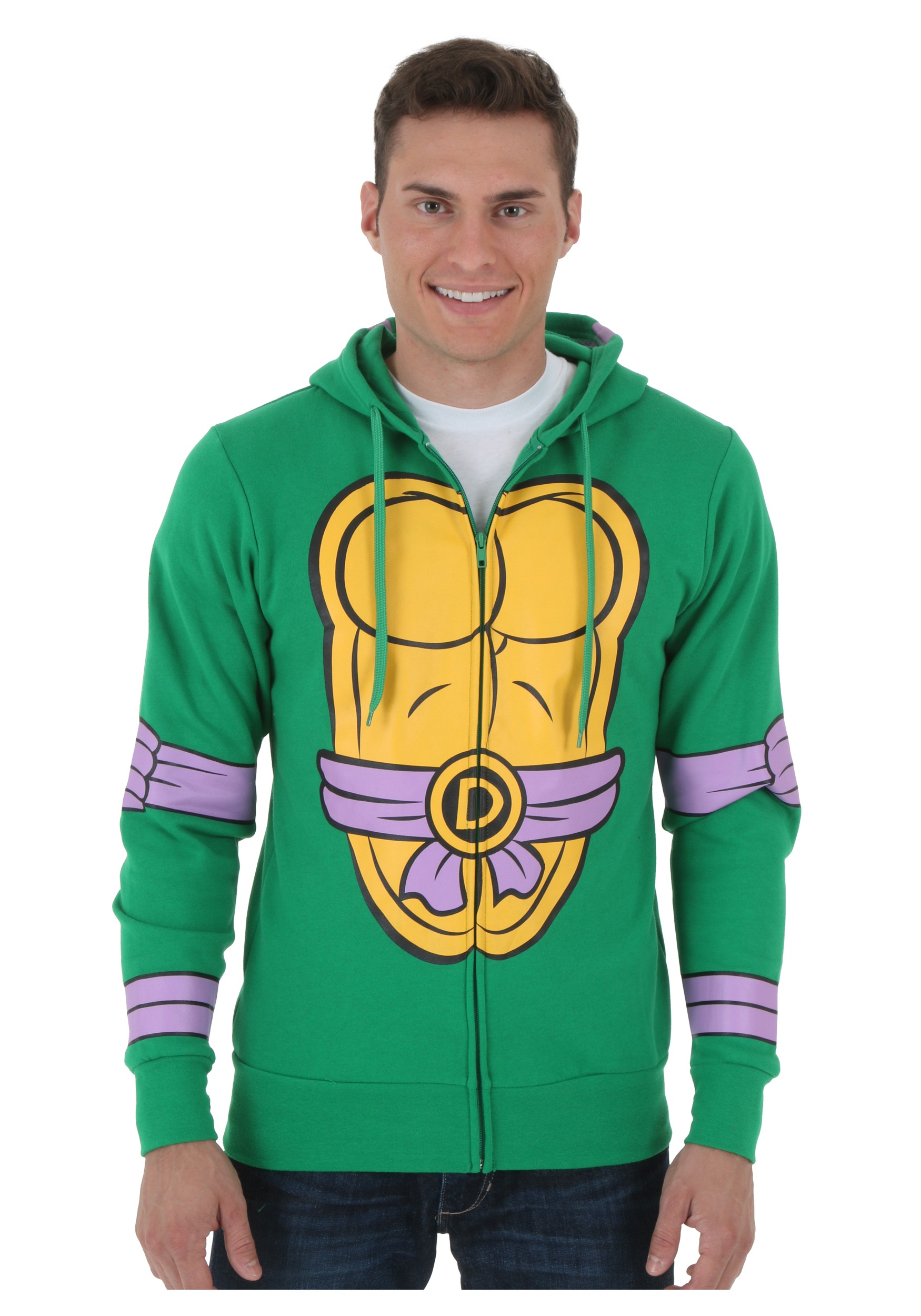 Image of Zip Hoodie TMNT Donatello Costume