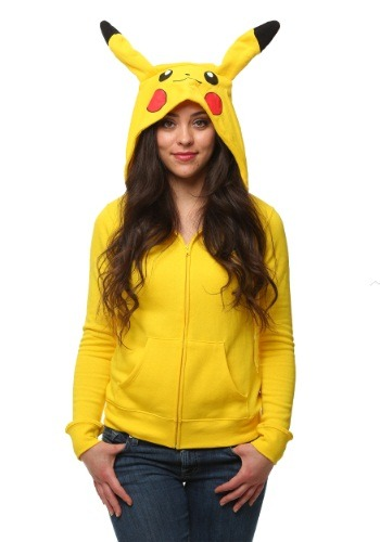 Womens I Am Pikachu Pokemon Hoodie