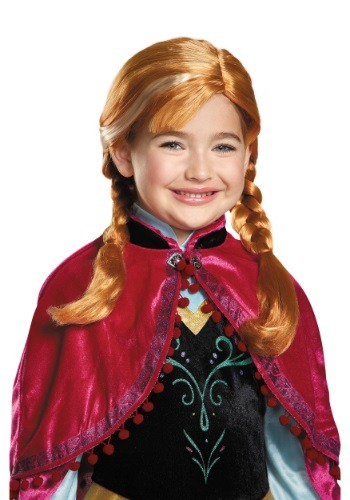 Click Here to buy Frozen Anna Kids Wig from HalloweenCostumes, CDN Funds