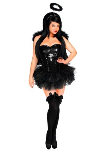 Image of Womens' Dark Angel Corset Costume