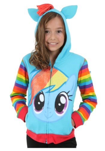 Girls Rainbow Dash Hoodie By: Freeze for the 2015 Costume season.