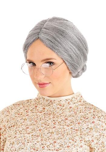 Grey Old Lady Wig 1