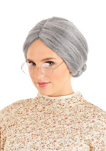 [Grey Old Lady Wig] (Old Wigs)