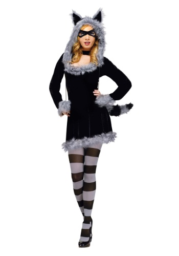 Click Here to buy Racy Raccoon Adult Costume from HalloweenCostumes, USA Funds & Shipping