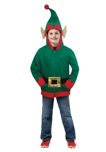 Image of Hoodie Child Elf Costume