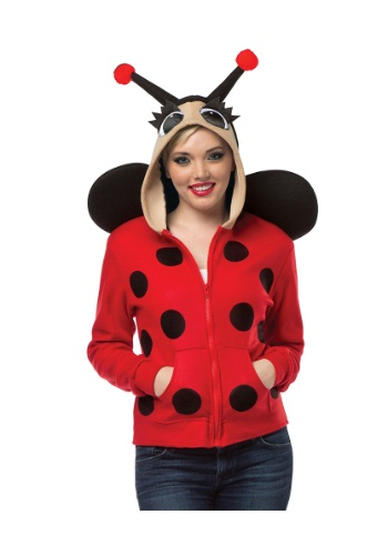 Adult Lady Bug Hoodie Plus Size