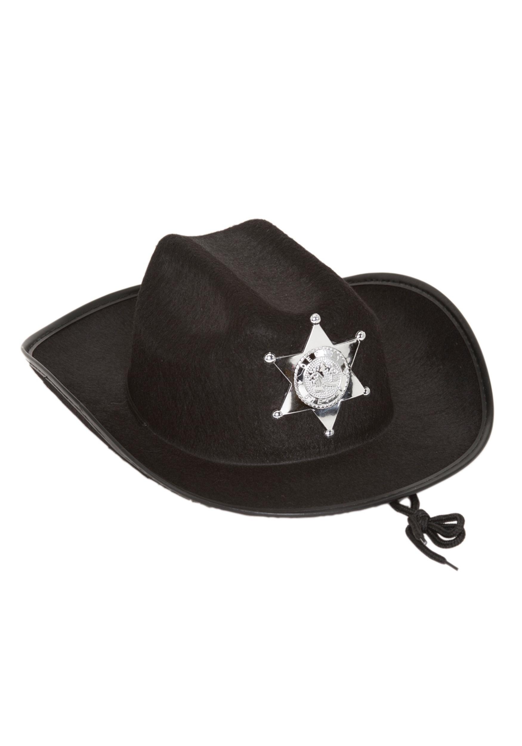 cf89ab9c3 Kids Black Sheriff Hat