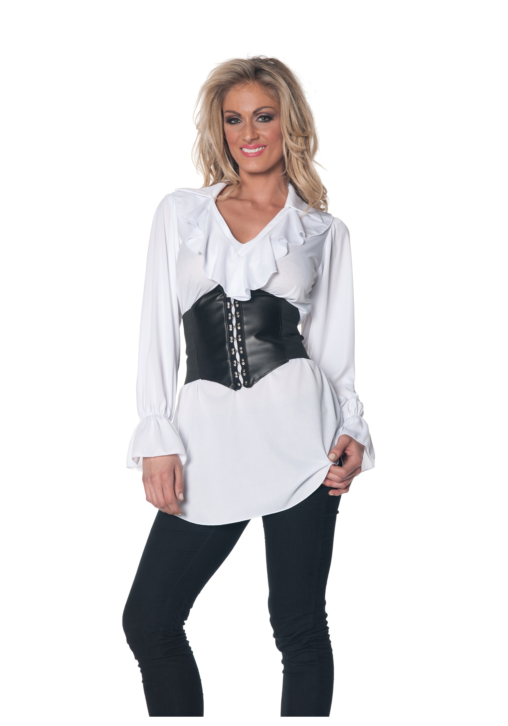 Womens White Pirate Blouse 106