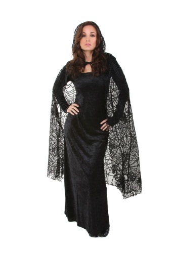 Sheer Spiderweb Cape By: Underwraps for the 2015 Costume season.