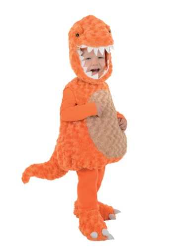 Click Here to buy Toddler Orange T-Rex Costume from HalloweenCostumes, USA Funds & Shipping