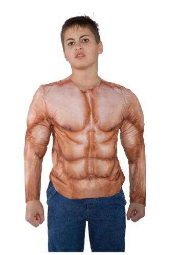 Kid's Padded Muscle Shirt By: Underwraps for the 2015 Costume season.