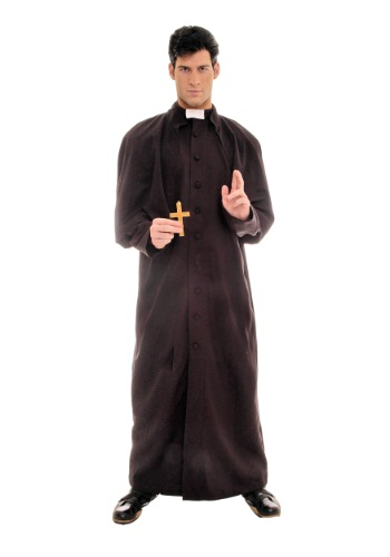 Mens Deluxe Priest Costume