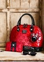 Mickey and Minnie Red and Black Patent Embossed Bag3