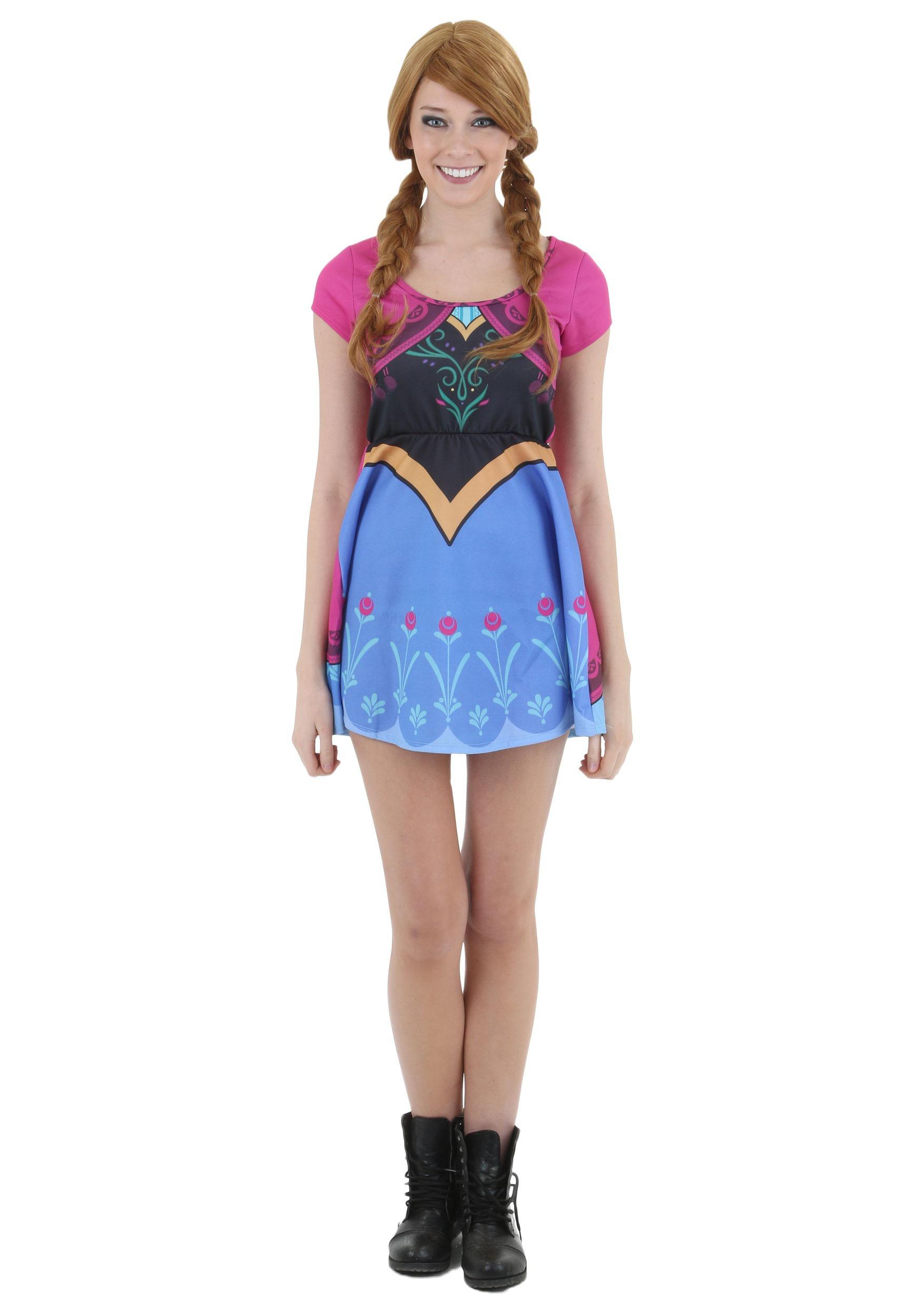 94b88bee485c Women s Frozen  I Am Anna Costume Skater Dress
