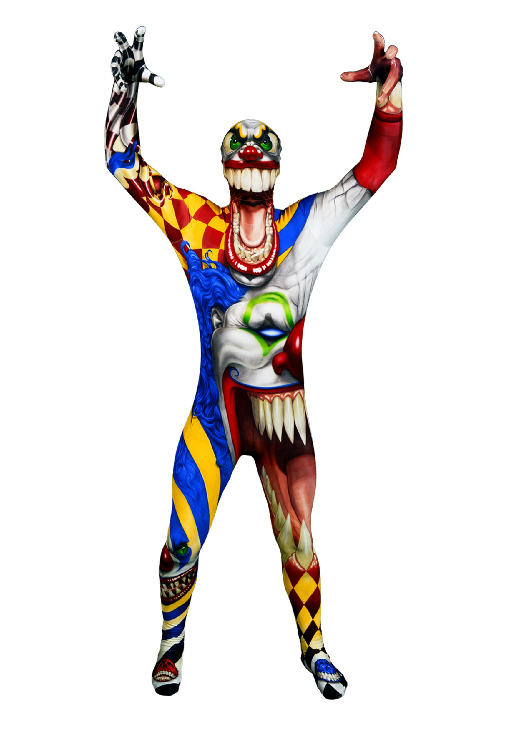 adult the clown costume morphsuit