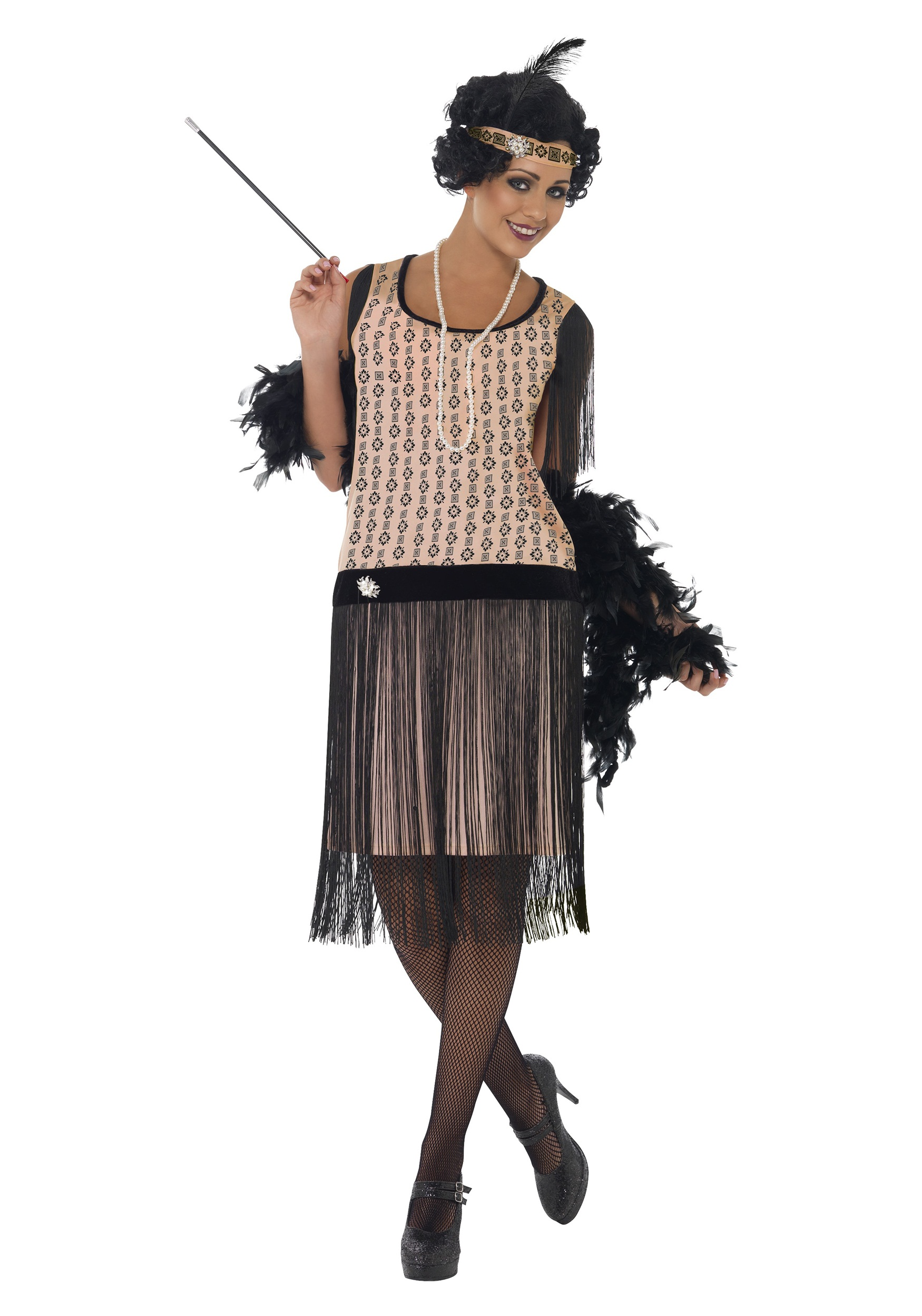 Womens Plus Size 1920s Coco Flapper Costume
