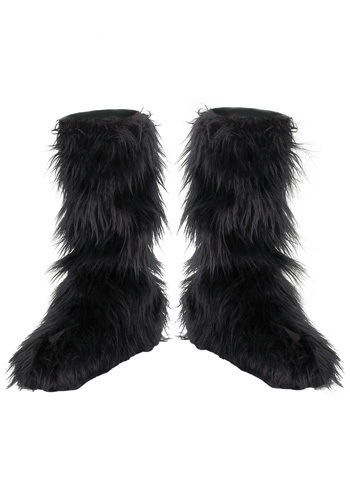 Kids Black Furry Boot Covers By: Disguise for the 2015 Costume season.