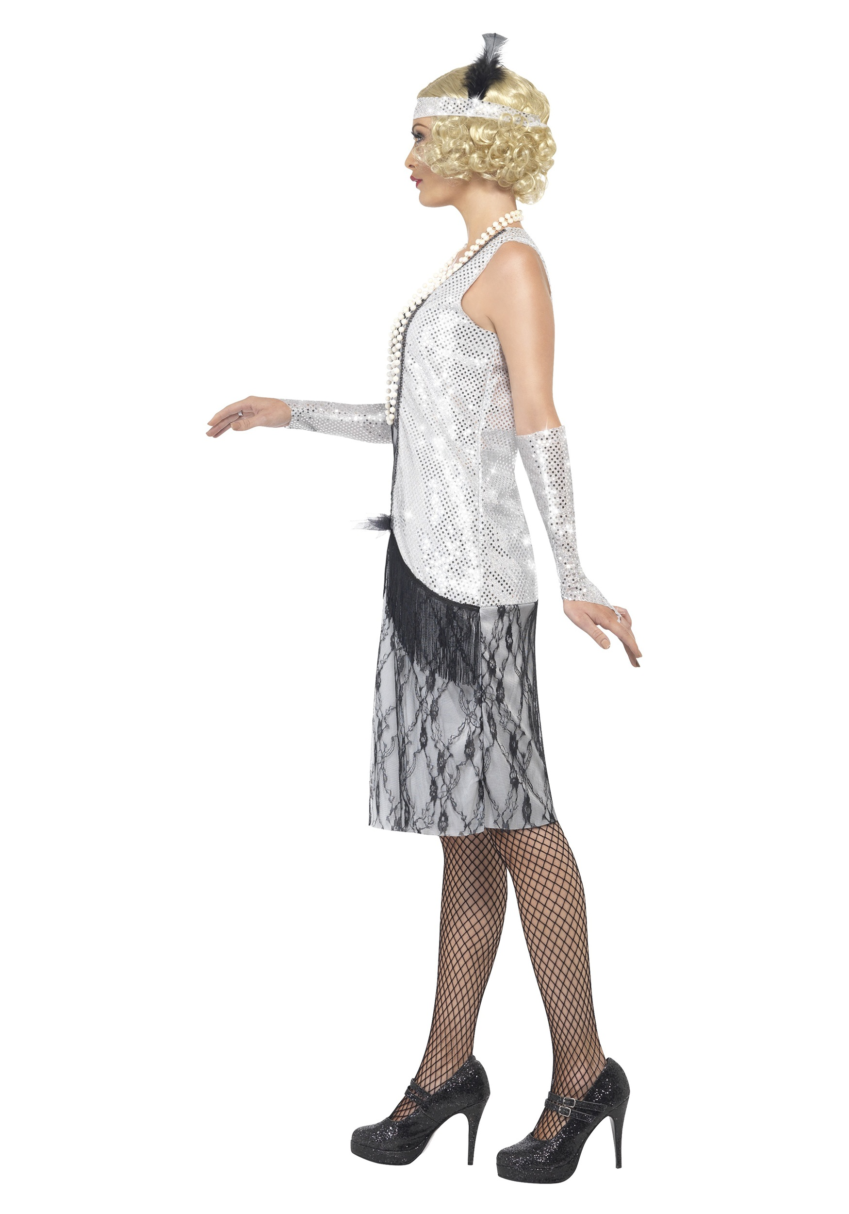 Women S 1920s Silver Flapper Costume