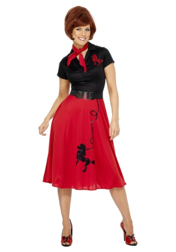 50s Style Poodle Womens Costume