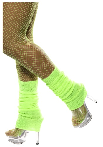 Neon Green Leg Warmers By: Smiffys for the 2015 Costume season.