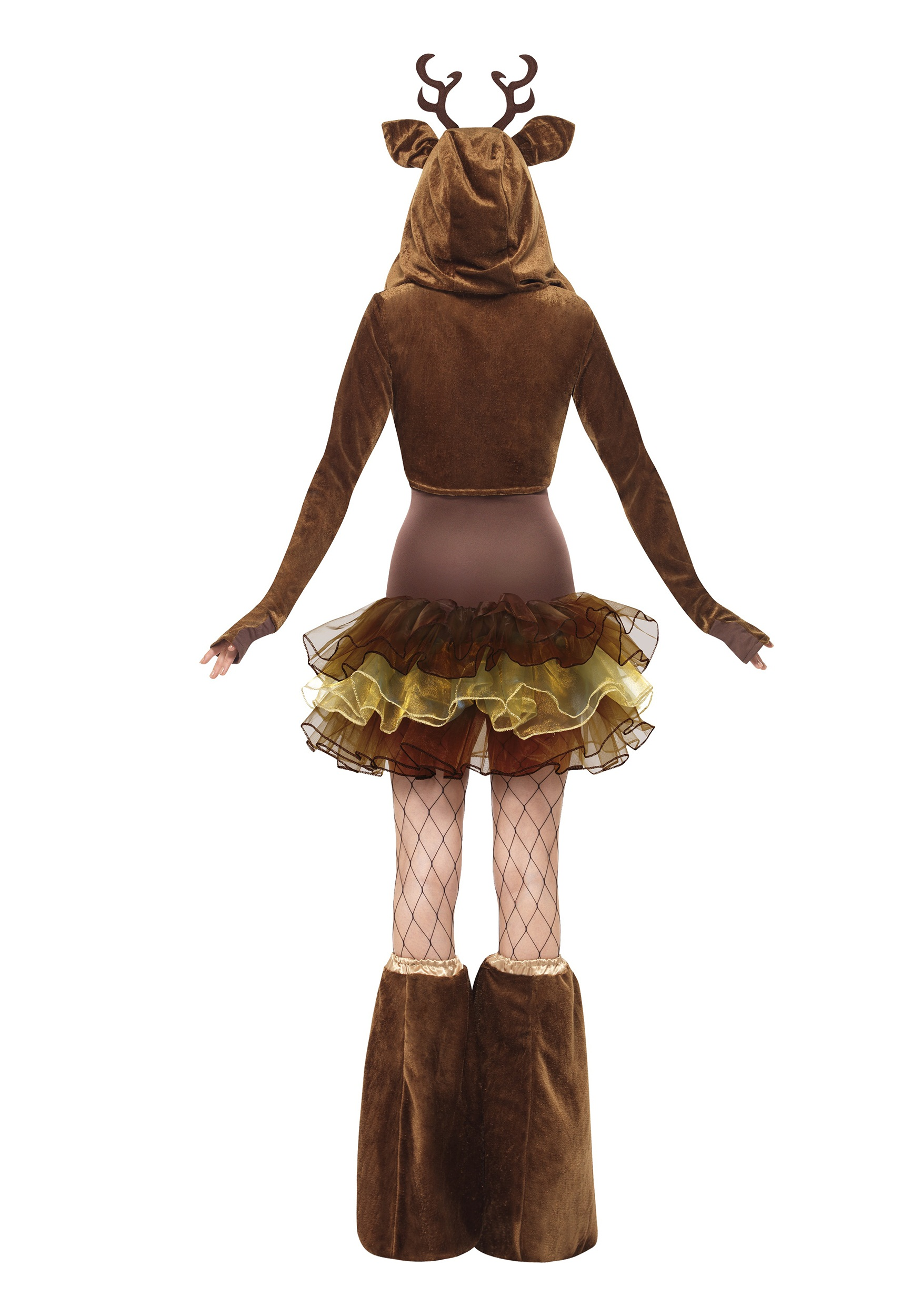 Womens fever reindeer costume back